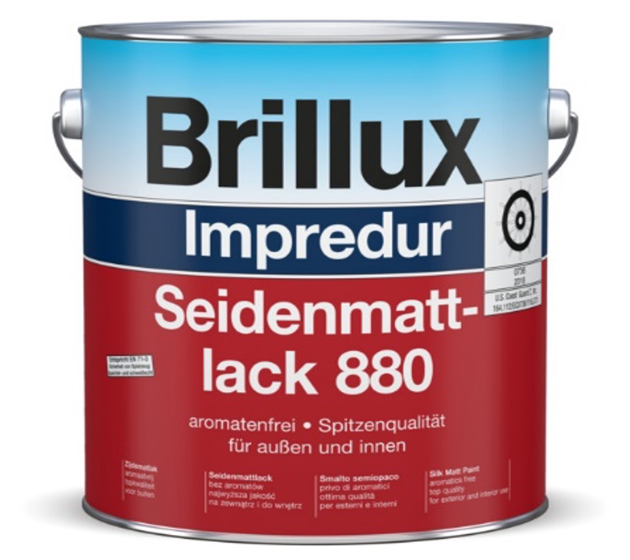 Brillux Impredur Seidenmattlack 880 für Hochwertige Lackierungen Image