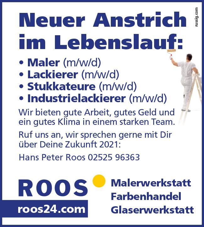 Roos Malerhandel Farben Stellenangebote Neubeckum Beckum Ahlen Oelde Ennigerloh